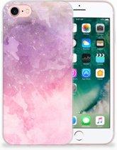 Apple iPhone 7 | 8 TPU Hoesje Design Pink Purple Paint
