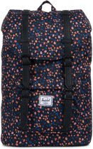 Herschel Supply Co. Little America Mid-Volume - Rugzak - Black Mini Floral / Black Synthetic Leather