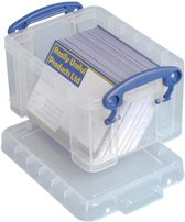 25x Really Useful Box visitekaarthouder 0,3 liter, transparant