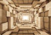 Fotobehang Modern Abstract Design 3D | XXXL - 416cm x 254cm | 130g/m2 Vlies