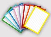 Flashcards / Flitskaarten / Systeemkaarten A7 Combi pakket 8 kleuren 500 stuks