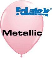 Ballonnen Metallic Roze 30 cm 25 stuks