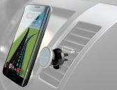 Azuri magnetische telefoonhouder voor in de auto op het luchtrooster - Universeel - Zwart
