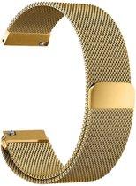Metalen armband voor Fitbit Blaze frame magneet slot - Kleur - Goud, Maat - L (25.5cm)