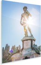 Zonnestralen langs het David standbeeld in Florence Plexiglas 120x180 cm - Foto print op Glas (Plexiglas wanddecoratie) XXL / Groot formaat!