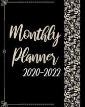 2020-2022 Monthly Planner: Black Cover, 36 Months Appointment Calendar, Agenda Schedule Organizer Logbook, Business Planners and Journal With Hol