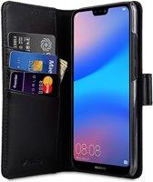 Melkco Huawei P20 Lite Book Case Echt Leer Zwart