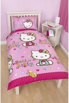 Hello Kitty Dekbedovertrek Colour Hearts