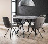 Meer Design Eettafel Orthosie Grijs 120cm