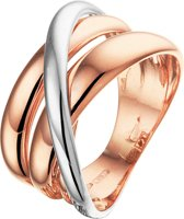 The Jewelry Collection Ring - Bicolor Goud (14 Krt.)