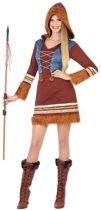 Eskimo verkleed jurkje/kostuum voor dames - carnavalskleding - voordelig geprijsd M/L (38-40)