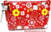 "Vagabond-Toilettas- Medium Sack ""Scandi Red"" 4343- afmeting 26 x 8 x 16 cm."