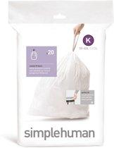 Simple Human Afvalzakken Code K 20 stuks voor 38 liter