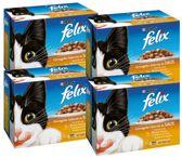 FELIX Pouch - Gevogelte -  Kattenvoer - 4 x (12 x 100) g