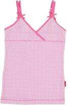 Claesen's Meisjes Onderhemd - Small Pink Checks - Maat 128-134