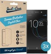 Just in Case Screen Protector Sony Xperia XA1 Ultra - Crystal Clear - 3 stuks