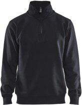 Blåkläder 3365-1048 Sweatshirt Jersey (1/2 Rits) Zwart maat M