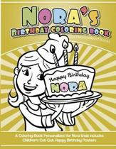 Nora's Birthday Coloring Book Kids Personalized Books