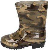 Groene kleuter/kinder regenlaarzen camouflage/leger print - Rubberen laarzen/regenlaarsjes voor kinderen 31