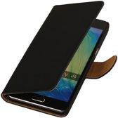 Samsung Galaxy J5 2015 Effen Booktylet Hoesje Zwart