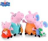 Peppa Pig knuffels, hele familie, 19 en 30 cm
