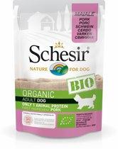 Schesir Hond Bio Pouch Paté 85 g - Hondenvoer - Varken