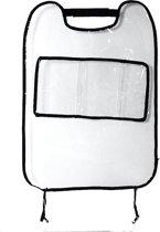 Autostoel beschermer kindervoeten transparant plastic met opbergvak