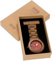 1915 watches MODEL-T oak red - Verpleegstershorloges - Eikenhout - bruin - 38mm