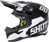 Shot Kinder Crosshelm Furious Spectre Black/White Gloss-M