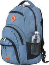 "TravelZ Hipster Rugzak - 28 liter rugtas - 17"" laptopvak - Jeans Blauw"