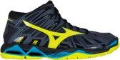 Mizuno Wave Tornado X2 Mid  Sportschoenen - Maat 45 - Mannen - navy/blauw/geel