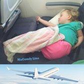 MaComfy Vliegtuigbedje - TOEGESTAAN DOOR KLM - 3 Hoogtestanden - Voetensteun - Kinderbedje - Grijs - Incl. Draagtas