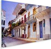 Kleurrijke straten in Panama Stad Plexiglas 90x60 cm - Foto print op Glas (Plexiglas wanddecoratie)