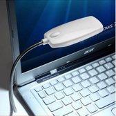 Flexibele USB LED Lamp - Verlichting / Leeslamp Voor PC / Computer / Laptop - Wit