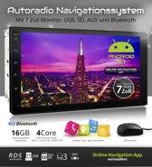 2DIN Android 5.1 multimedia navigatie  systeem met 7 inch scherm