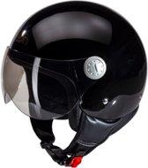 Beon Logo - Glans zwart - Jethelm - Scooterhelm - Motorhelm - M  / 57.5