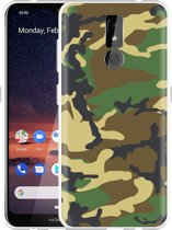 Nokia 3.2 Hoesje Army Camouflage Green
