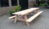 Douglashout boomstam picknicktafel- met vaste banken- 180x80