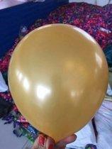 Voordeelpak 100 stuks Gouden parelmoer metallic ballon 30 cm hoge kwaliteit
