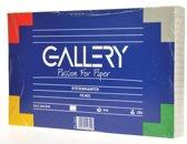 14x Gallery witte systeemkaarten, 12,5x20cm, gelijnd, pak a 100 stuks