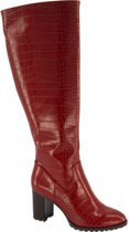 Graceland Dames Rode laars crocoprint - Maat 38