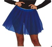 Petticoat/tutu rokje kobalt blauw 40 cm voor dames - Tule onderrokjes donkerblauw S-M-L
