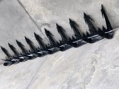 Metalen Antiklimstrip Zwart- Opklimbeveiliging - Anti Inbraak Strip - Inbraakbeveiliging - Hekbeveiliging - Wall Spikes