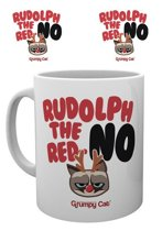 Grumpy Cat Rudolph The Red Nose No - Kerst Mok