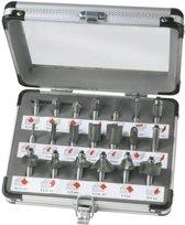 FERM Bovenfrezenset (20st.) - in aluminium koffer - PRA1008