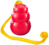 Kong classic met touw rood / geel xl