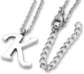 Amanto Ketting K - Unisex - 316L Staal PVD - Letter - 16x14mm  - 50cm
