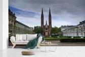 Fotobehang vinyl - De St Bonifatius kerk in de Duitse stad Wiesbaden breedte 600 cm x hoogte 360 cm - Foto print op behang (in 7 formaten beschikbaar)