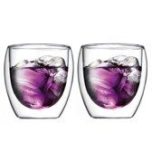 Bodum Pavina Glas - Dubbelwandig - Klein 0.25L - 2 stuks