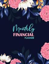 Monthly Financial Planner: Monthly Budget Planner for Home, Office - Budget Expense Tracker and Bill Organizer - Budget Planning - Paycheck Budge
